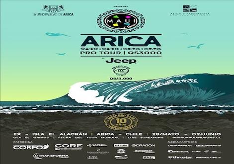 Maui and Sons Arica Pro Tour realiza triagem com surfistas locais em El Gringo.